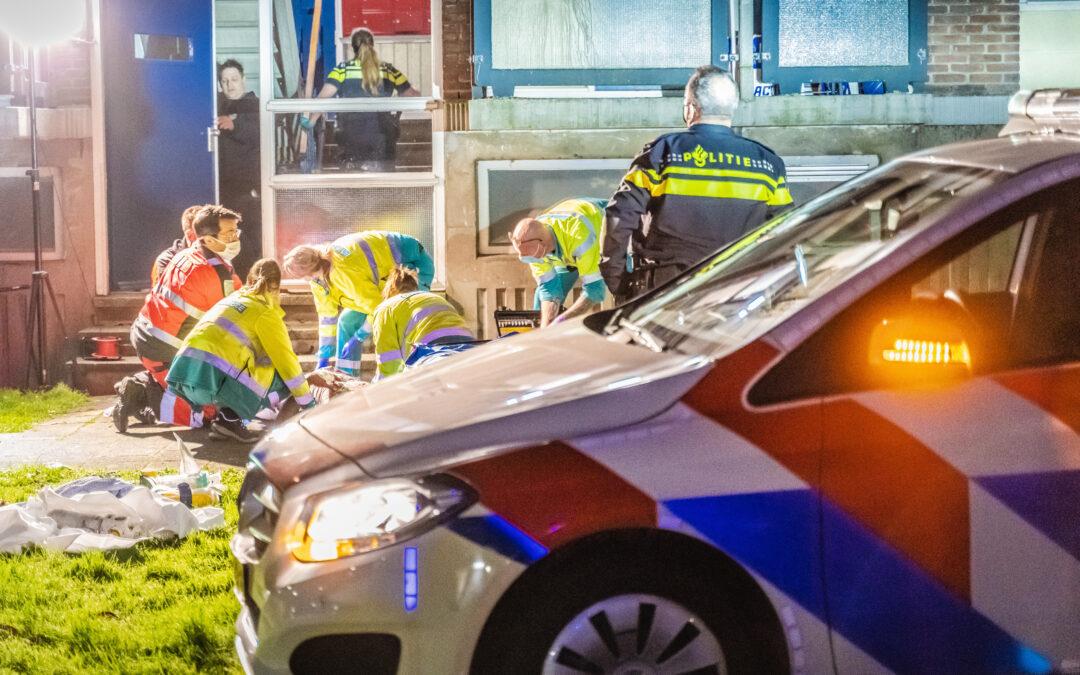Man zwaargewond onderaan flat Palsterkamp Rotterdam
